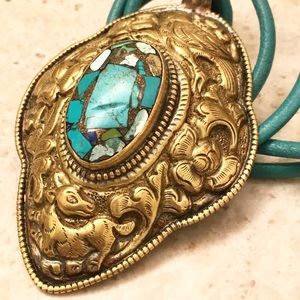 Nepalese Turquoise Pendant Necklace